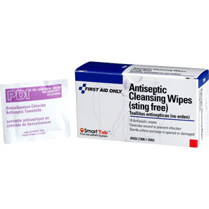 Sting Free Antiseptic Cleansing Wipes, 18/Box