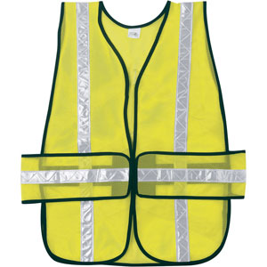 General Purpose, Chevron Poly Mesh, Lime Safety Vest