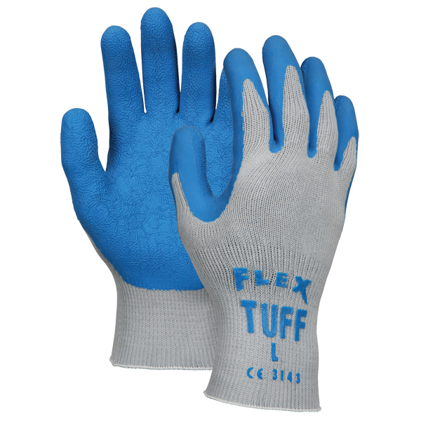 FlexTuff 10 Gauge Cotton/Poly Gloves, Large