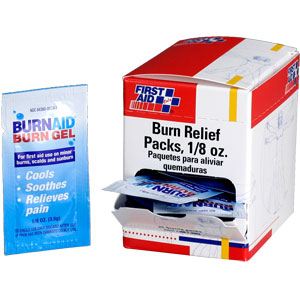Burn Relief, 1/8 oz - 25/Box
