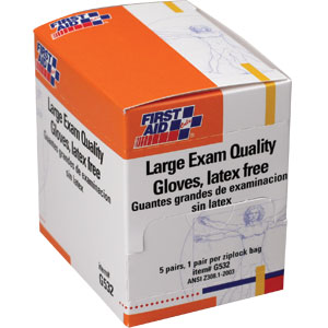 Large Vinyl Exam Gloves, 5 Pair/Box