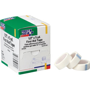 "1/2 "" x 5 yd. First Aid Tape, 20/Box"