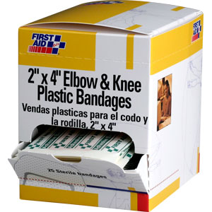 "2"" x 4"" Elbow & Knee Plastic Bandages"