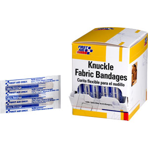 "1 1/2"" X 3"" Knuckle Fabric Bandages, 100/Box"