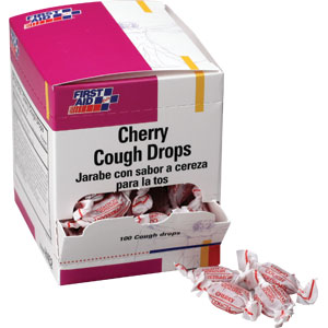 Cherry Cough Drops, 100/Box