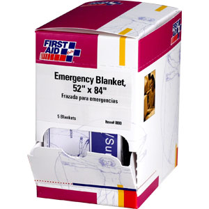 "52"" x 84"" Emergency Blanket, 5/Box"