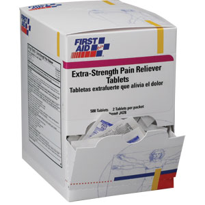 Extra-Strength Pain Reliever Tablets, 500/Box, 250 Packs (2/Pack)