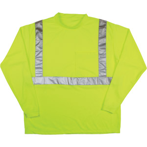T-SHIRT LS CL2 LIME XL
