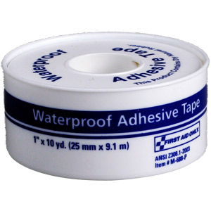 "1"" x 10 yd Waterproof Tape w/Plastic Spool"