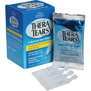 Thera Tears Lubricant Eye Drops, .02 oz Ampoule, 32/Box