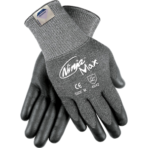 (PR)NINJA MAX GLOVES GY DYNEEMA/SYNTHETIC SHELL BK PALM/FINGERTIP COATING