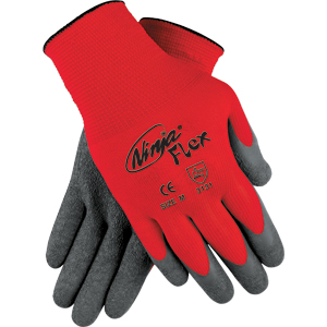 Ninja Flex, 15 Gauge Nylon Shell Latex Coated Gloves