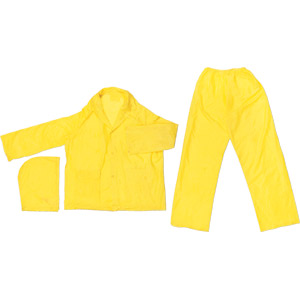 Zodiac .10mm Single Ply, 3 Pc Yellow PVC Suit, 2X-Large