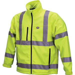 ~JACKET XL CL3 LIME POLYFLEECE