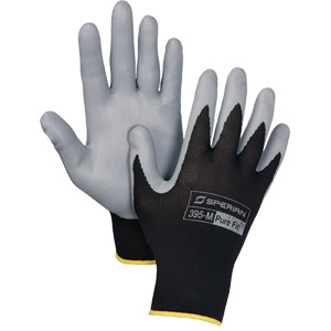 (PR)GLVS PURE FIT BLK/GRY NYLON/FOAM NITRILE PALM