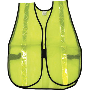 General Purpose Poly Mesh, Lime Safety Vest w/Lime Stripes