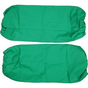 18&#34 Green Vinyl Elastic Sleeves, Flame Retardant