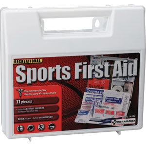 71-Piece Sports First Aid Kit, Plastic Case