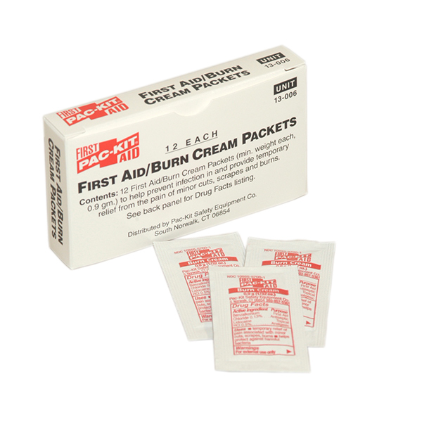 First Aid/Burn Cream, 0.9gm (12/Box)