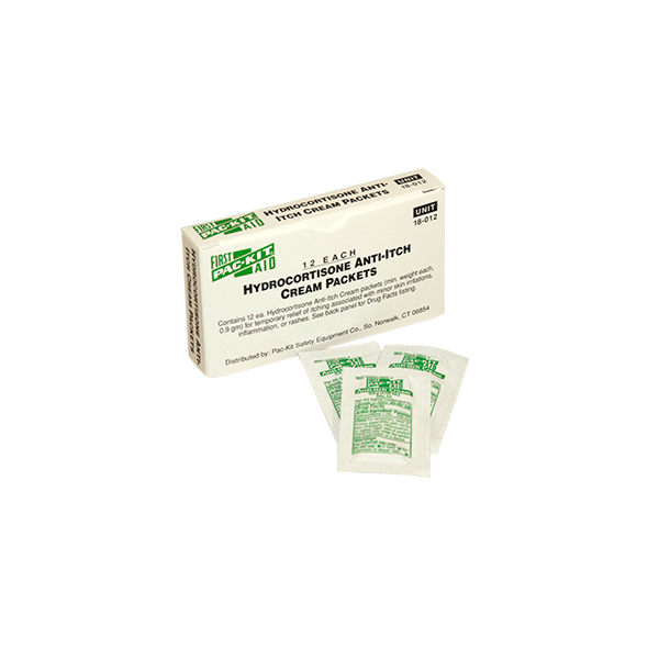 Hydrocortisone Anti-Itch Cream Packs (12/Box)
