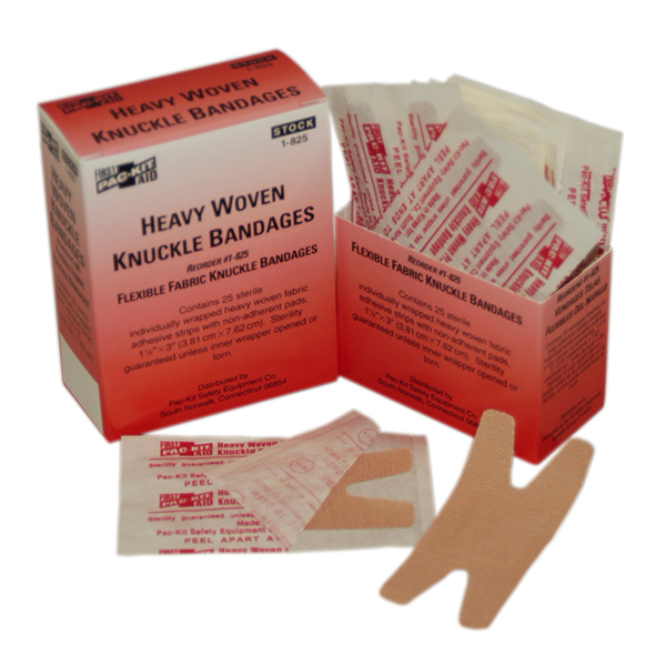 Heavy Woven Knuckle Bandages, 1 1/2&#34 x 3&#34 (25/Box)