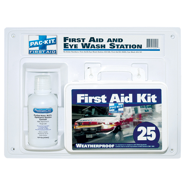 Contractor&#39s First Aid Kit & Eyewash
