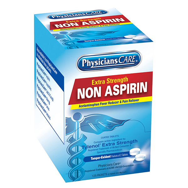 Non-Aspirin Acetaminophen Pain Reliever (250/Box)