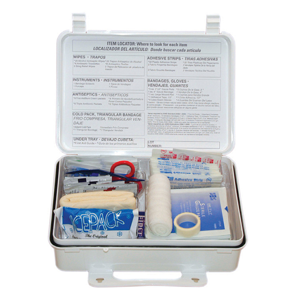25-Person, 94-Piece Weatherproof ANSI First Aid Kit