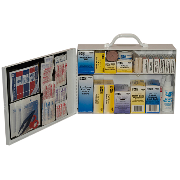 Industrial First Aid Station, 2-Shelf w/ Door Pouch