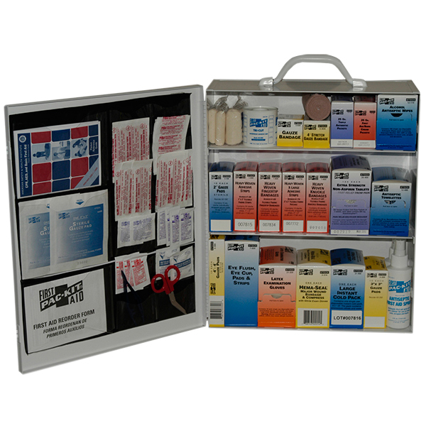 Industrial First Aid Station, 3-Shelf w/ Door Pouch