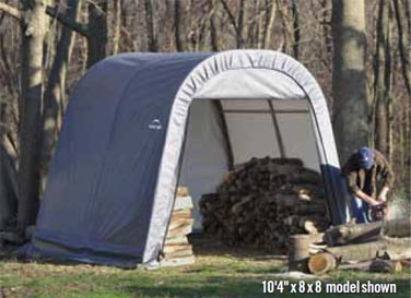 8'4&quot;W x 8'L x 8'H - Round Style Shelter <br> Free Shipping!!! </br>