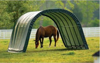 12&quot;W x 20'L x 8'4&quot;H - Round Style Run-In Shelter <br> Free Shipping!!! </br>