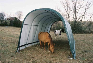 13'W x 20'L x 10'3&quot;H - Style Run-In Shelter <br> Free Shipping!!! </br>