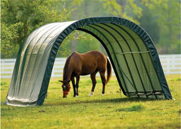13'W x 24'L x 10'3&quot;H - Round Style Run-In Shelter <br> Free Shipping!!! </br>