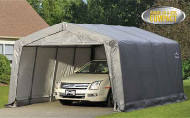 12'3&quot;W x 16'L x 8'6&quot;H - Peak Style Shelter <br> Free Shipping!!! </br>