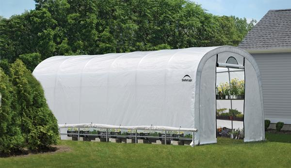 12'Wx24'Lx8'H Round Style Organic Growers Greenhouse