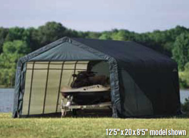 12'5&quot;W x 20'L x 8'5&quot;H - Peak Style Instant Garage <br> Free Shipping!!! </br>