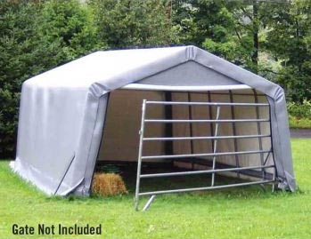 12&quot;W x 20'L x 8'5&quot;H - Hay Storage Peak Style Shelter <br> Free Shipping!!! </br>