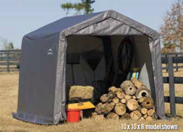 10'W x 8'L x 8'H - Peak Style Shelter <br> Free Shipping!!! </br>