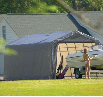 12'10&quot;W x 24'L x 10'4&quot;H - Peak Style Shelter <br> Free Shipping!!! </br>
