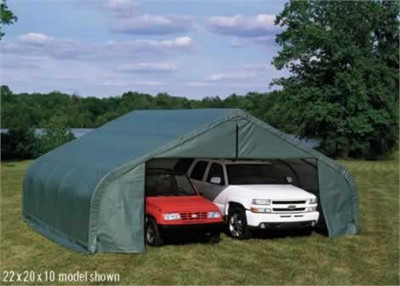 22'W x 20'L x 10'7&quot;H - Peak Style Shelter <br> Free Shipping!!! </br>