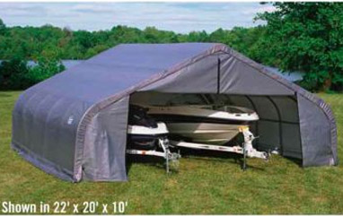 22'5&quot;W x 20'L x 12'7&quot;H- Double Wide Shelter <br> Free Shipping!!! </br>