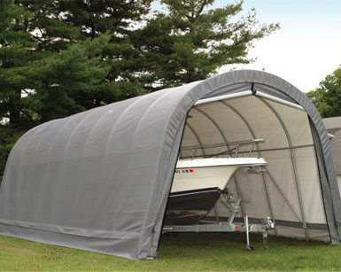 14'W x 28'L x 12'H - Instant Garage Round Style <br> Free Shipping!!! </br>