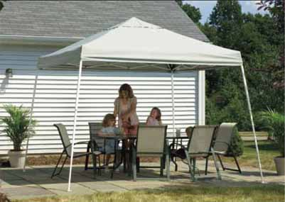 12'W x 12'L x 9'9&quot;H - Store It Pop-up Canopy with Slanted Legs <br> Free Shipping!!! </br>