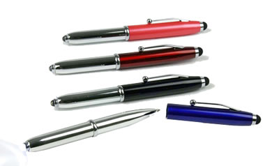 Multi-Function Stylus/Flashlight/Pen