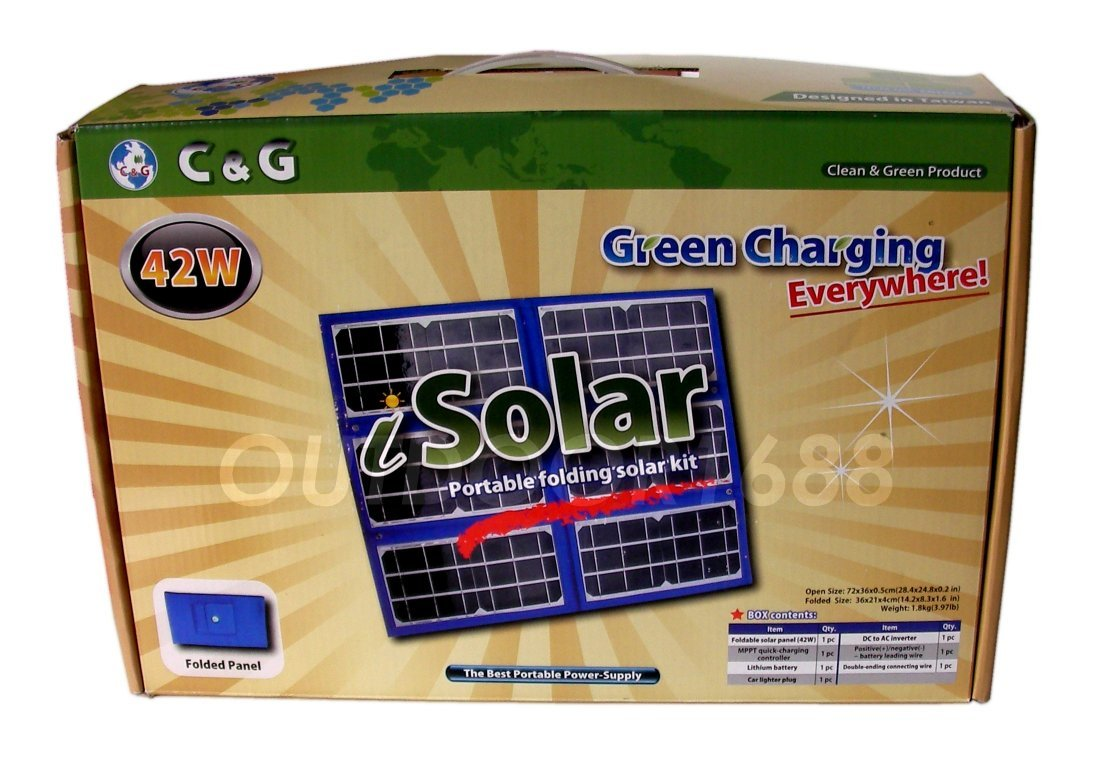 42 Watts Portable Solar Panel Battery Charger Kit
