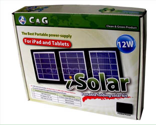 12W Portable Solar Battery Kit for iPad & Tablets