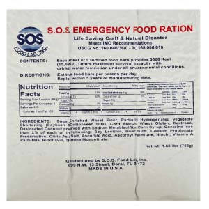 3600 Kcal Emergency Rations </br> Case of 20 Packets </br> 5 Year Shelf Life </br> Free Shipping!