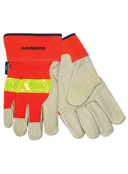 Insulated Top Grain Pigskin Leather Palm Glove<br>Orange