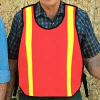 Mesh Safety Vest W/Reflective Strips